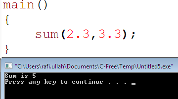 template in C