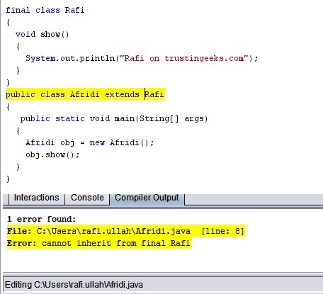 java how to use args