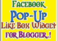 Pop-up Facebook Like Box To Blogger